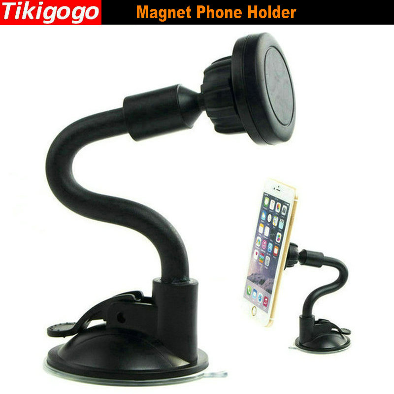 Tikigogo Universal Mobile Phone Magnet Holder Windshield Soft Tube Magnetic Car Phone Holder Stand Mount for Smartphone gps etc.
