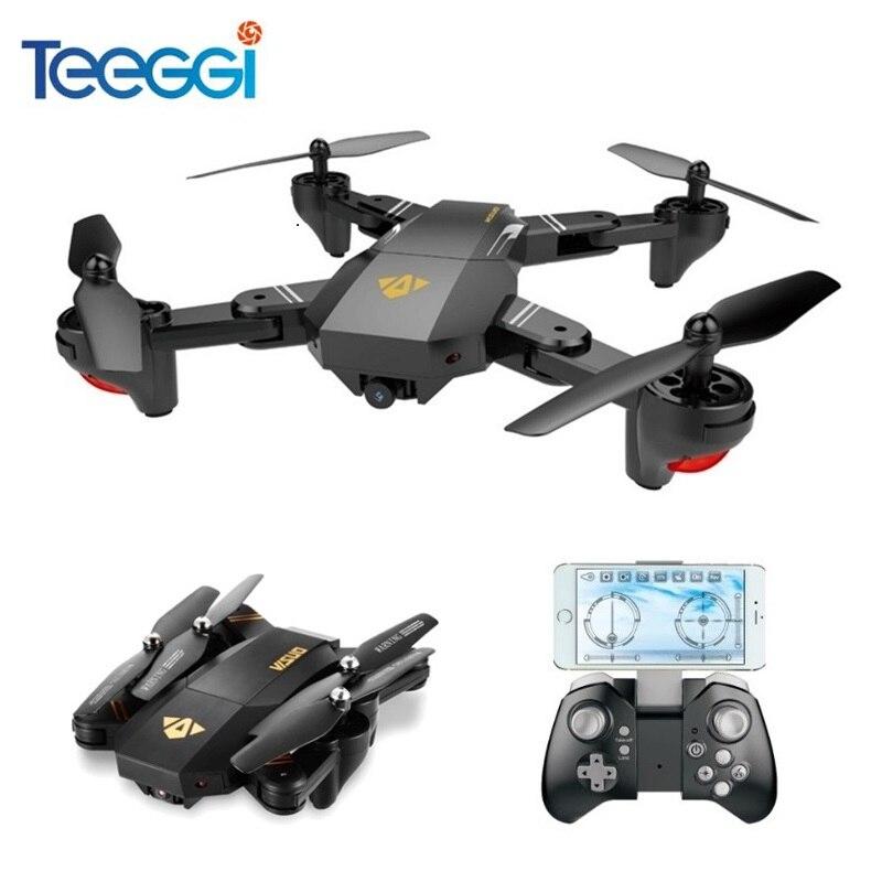 Cuaderno visual XS809HW XS809W autofoto Drone con HD de gran angular de la Cámara RC Drone profesional WiFi FPV RC Quadcopter helicóptero Mini Dron