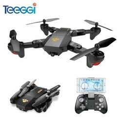VISUO XS809HW XS809W Dron do Selfie z szerokokątnym kamera HD RC Drone Profissional WiFi FPV zdalnie sterowany Quadcopter helikopter Mini Dron
