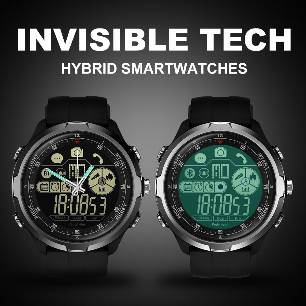 IP67/50 M résistant à l'eau ZEBLAZE VIBE 4 HYBRIDE Robuste Smartwatch 1.24 pouces FSTN & Mains Mécaniques Verre Saphir montre connectée hommes - 2