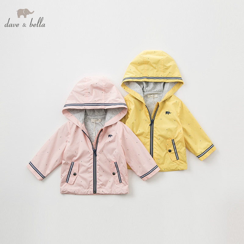 DB9963 dave bella spring unisex baby jacket children fashion outerwear kids solid coat