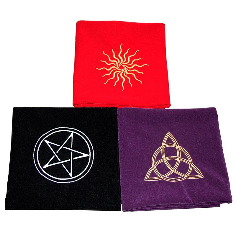 motif rune divination nappe de tarot Noir Nappe de 50 x 50 cm non tiss/ée autel