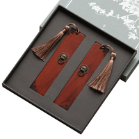 Free Shipping Wood Bookmark Wooden Book Mark Auspicious Rosewood Bookmark Classical Chinese Style Gift Bookmark
