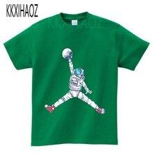 цены Baby Clothing children t shirts Space Print Kids Baby Boy Tops Short Sleeve T-Shirt Summer O-Neck Tee boys clothes N9-3