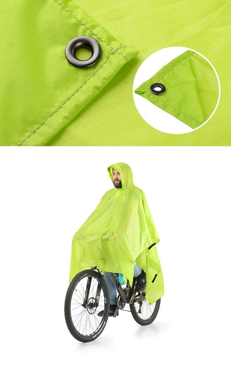 Naturehike única pessoa poncho capa de chuva