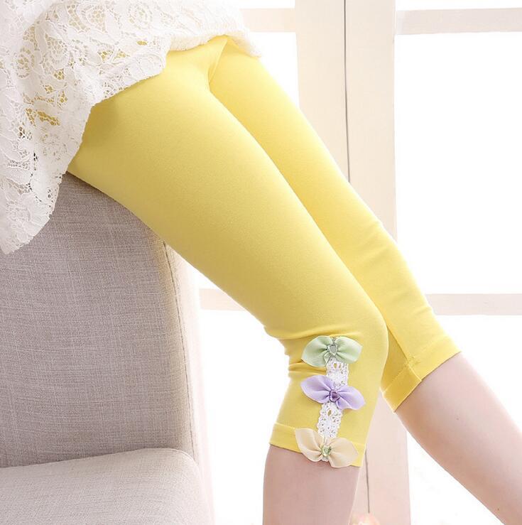 Kids Leggings For Girls Children Clothing Cotton Flower Pants Girls Skinny Trousers 3 4 5 6 7 8 9 11 12 Years Summer Dance Wear 4