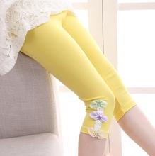 Kids Leggings For Girls Children Clothing Cotton Flower Pants Girls Skinny Trousers