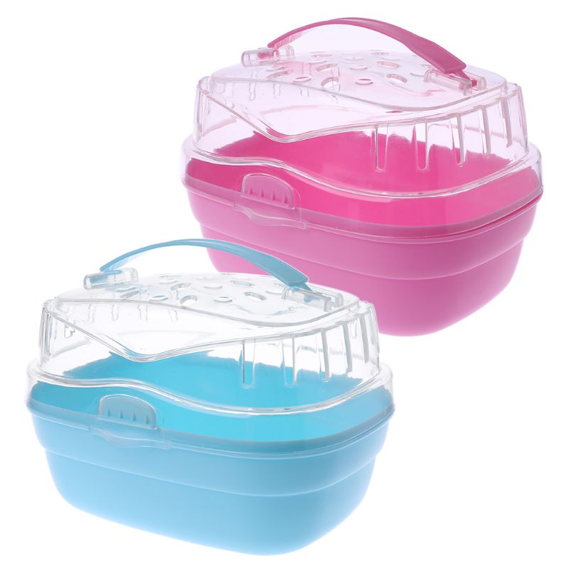 Hamster Cage Pet Outdoor Carrier Portable Small Animal Guinea Pig Go Out Box