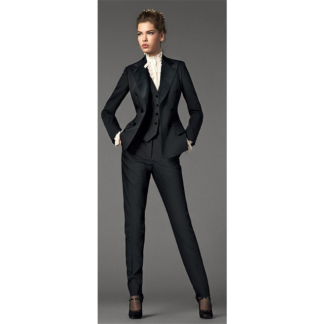 Jacket Pants Black Vest Business Women S Design Blazer Suits