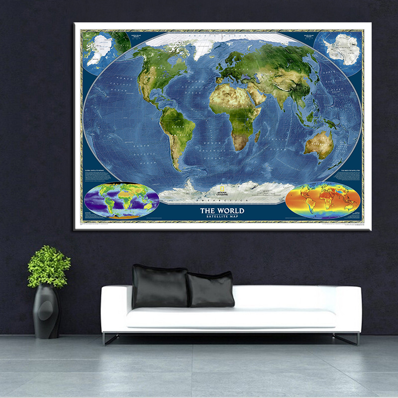 Aliexpress.com : Buy Large Modern Classic World Map Art