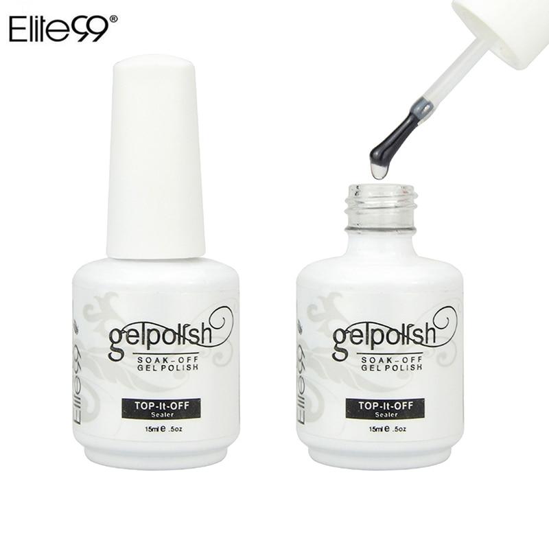 Профессиональный Гель-лак Elite99, 15 мл, верхнее покрытие, УФ светодиодный Гель-лак, герметик для ногтевого дизайна, салонный блестящий прозрачный лак для ногтей