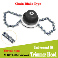 Grass Trimmer Lawn Mower Chain Trimmer Head Chain Brushcutter for Garden Grass Cutter Spare Parts Tools for Trimmer Dropship