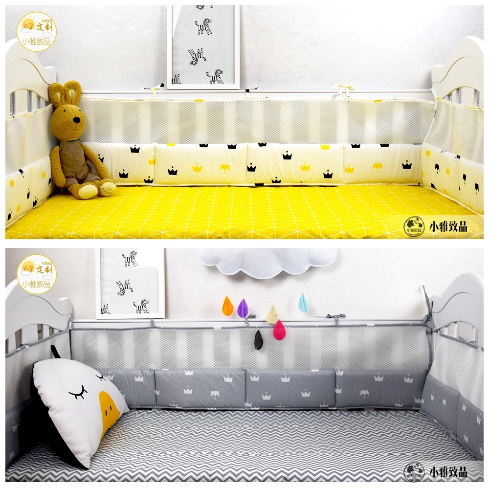 Multi Color & Sizes 5pcs Baby Bedding Set Breathable Thicken Crib Protect Bumpers Nordic Style Baby Bed Linens Kit Bumpers Sheet