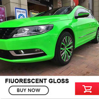 Gloss fluorescent Vinyl Car Wrap Film Yellow , Pink & Green Color With Air bubble Free Size:1.52*20M/Roll