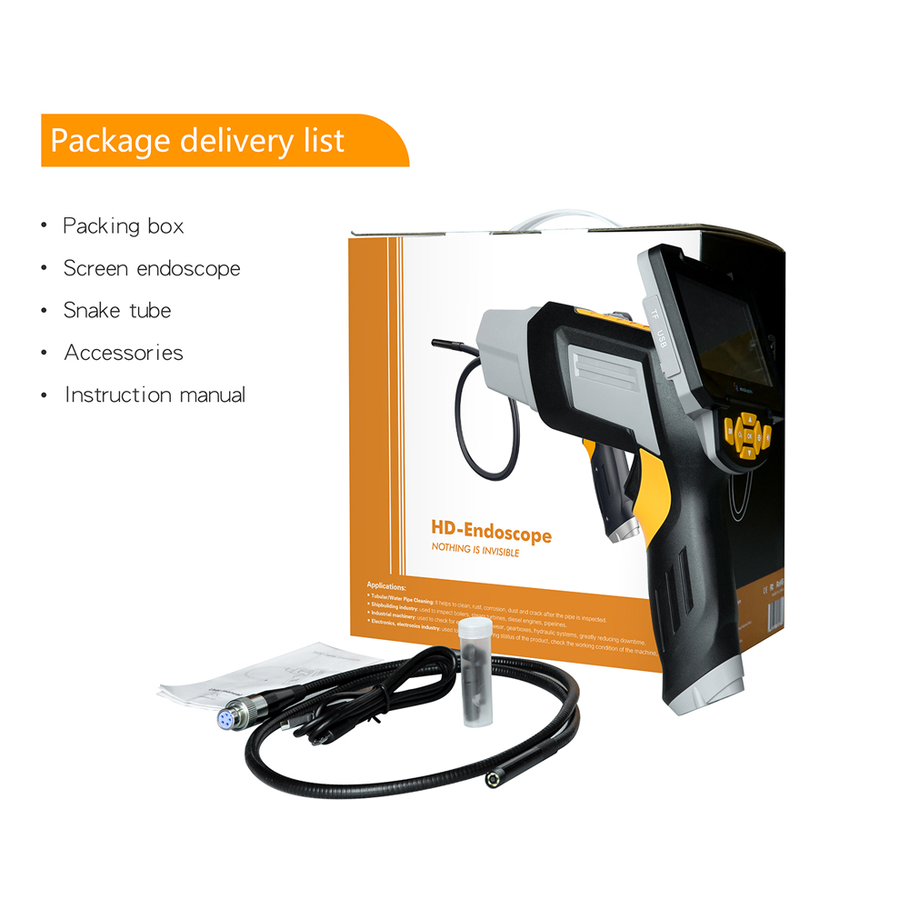 Image 5 - Digital Industrial Endoscope 4.3 inch LCD Borescope Videoscope with CMOS Sensor Semi Rigid Inspection Camera Handheld Endoscope-in Surveillance Cameras from Security & Protection