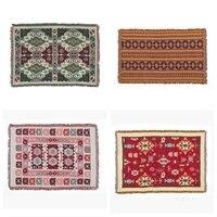 High Quality Retro Rustic Geometric Soft Blanket Ethnic Art Decor Tapestry Sofa Leisure Cushion Shawl Blanket Wall Hanging Throw