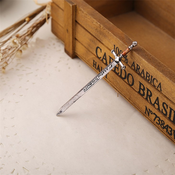 Game of Thrones Antique Silver Sword Necklace