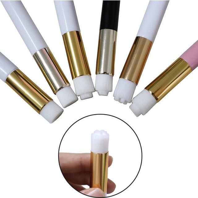 Yelix cílios escova de limpeza extensões de cílios ferramentas compõem escovas para chicote/nariz lavagem profissional
