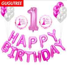 1 years old happy birthday balloons for party Decoration, foil Banners Paper decoration PD-76