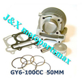 100CC CYLINDER GY6 50cc 80cc upgrade to GY6 100cc Cylinder Kit Cylinder assy for 4-stroke 139QMB Moped Scooter Kart ATV
