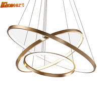 HGHomeart Fashion Ring Chandeliers LED Luster Living Room Lamp Modern Chandelier Suspension Light Lampadari Lighting Decoration