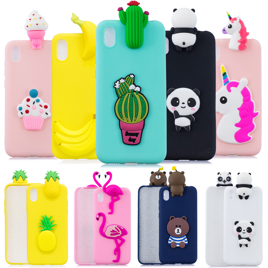 Silicone <font><b>cover</b></font> on For Funda Xiaomi <font><b>Redmi</b></font> <font><b>7A</b></font> case For Xiaomi <font><b>Redmi</b></font> <font><b>7A</b></font> Coque Redmi7A Back <font><b>Cover</b></font> 3D Panda Flamingo Cactus Soft case image