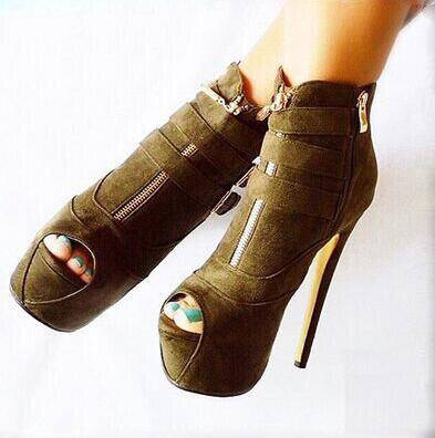 À Cm Cuir 43 Port 5 14 Sans Frais Chaussures Étanche Décorative 5 Mat Taille Brown Roman 4 De Boucle Mode 35 Hauts Talons YTp7q7