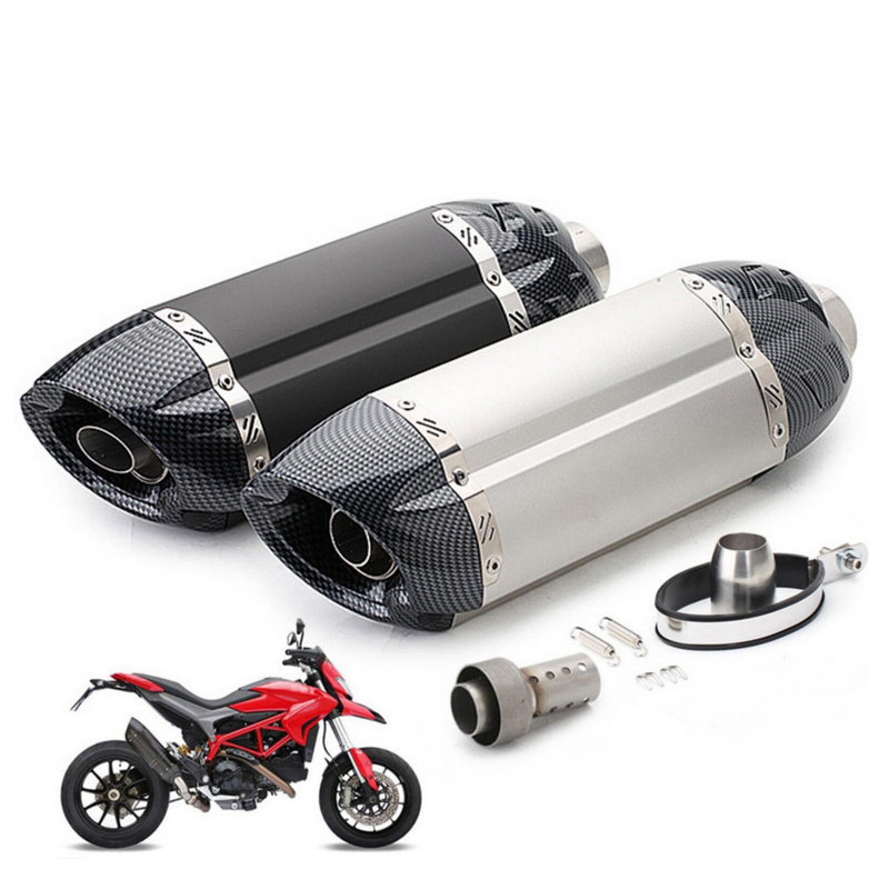 Motorcycle Exhaust Pipe Modified Exhaust Muffler CBR600 MT07 Z800 ninja er6n z1000 TTR YBR YZF RSZ Motorbike Muffler Escape universal motorcycle slip on mivv exhaust for most exhaust mt07 09 for 10rzx6r10r z800 ninjia er6n z1000