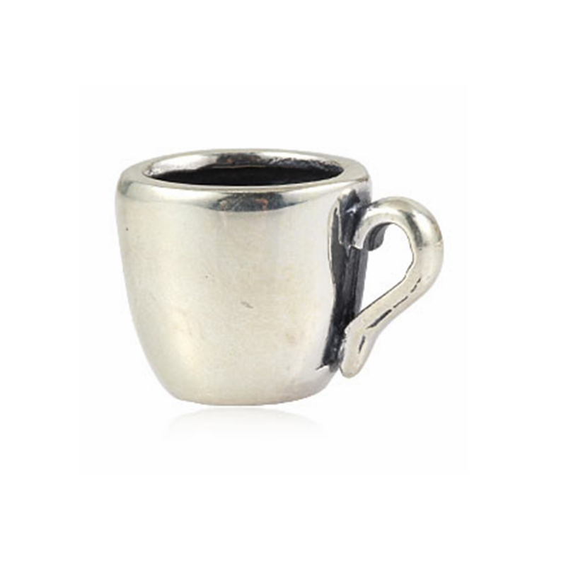 Coffee Mug Charm Beads Original 100% Authentic 925 Sterling Silver Beads fits Pandora Charms bracelets & Necklaces