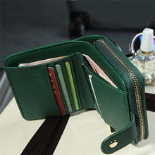 Vintage Zipper Women Short Wallet