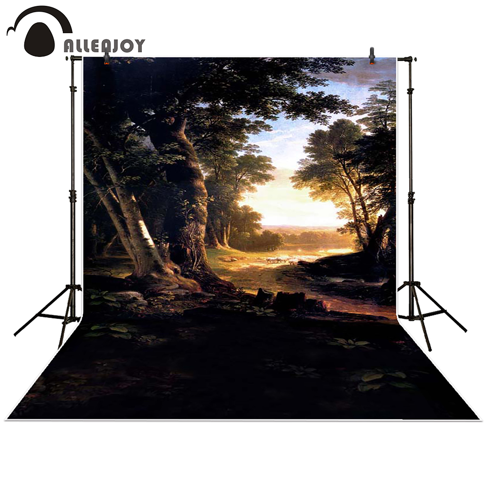 Allenjoy Photography backdrops background Dawn Forest Sunset Trees princess girl spring kids children baby shower studio flame trees of thika