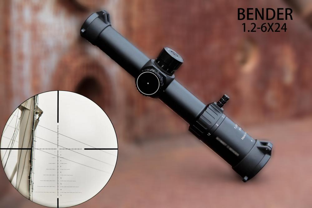 Schmidt Bender New 1.2-6x24 30mm Tube Diameter Short Riflescope Illuminated Hunting Scope With Glass Enhanced Reticle Fast Focus