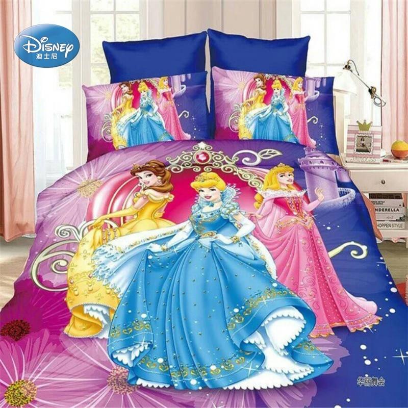 Bella Rapunzel Cinderella Princess Girl Duvet Quilt Cover Pillowcases 2/3/4 pcs 3D Bedding Set Single Twin Size for Girls Gift