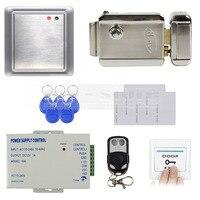 DIYSECUR Completa 125 KHz RFID Teclado Sistema de Controle de Acesso + Elétrica Lock + Power Supply Produto de Segurança 8168A
