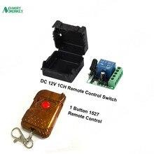 Универсальный беспроводной Радиочастотный пульт дистанционного управления, 433 МГц, 12 в пост. Тока, 10 А, 1CH, релейный модуль приемника и 433,92 МГц, 1 ключ, пульт дистанционного управления