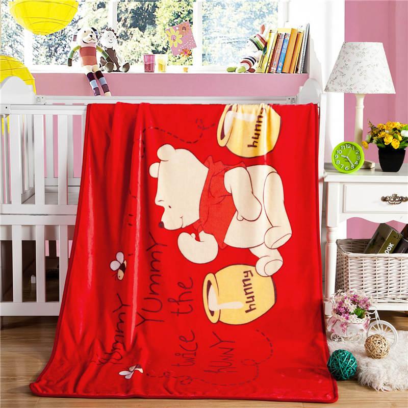 Lucky Honey bear Blanket Cartoon Rectangle Blankets Flannel Soft Single layer Blanket For Children Bed Home Living Room Blankets