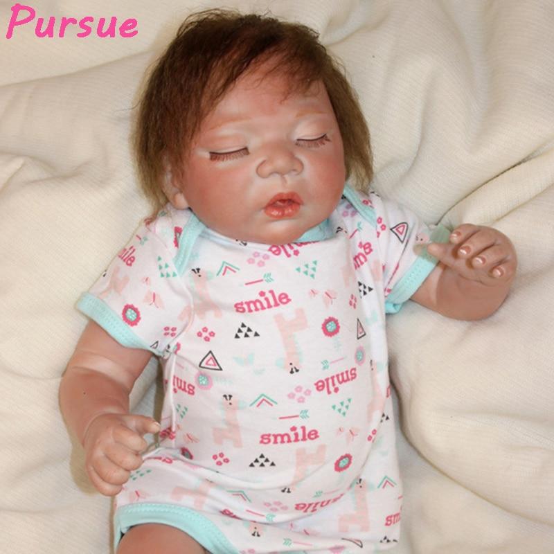 Pursue 50 cm Real Newborn Reborn Lifelike Baby Dolls for Children Soft Vinyl Silicone Reborn Babies Sleep Dolls brinquedo menina guapabien brief women pocket shopper bag