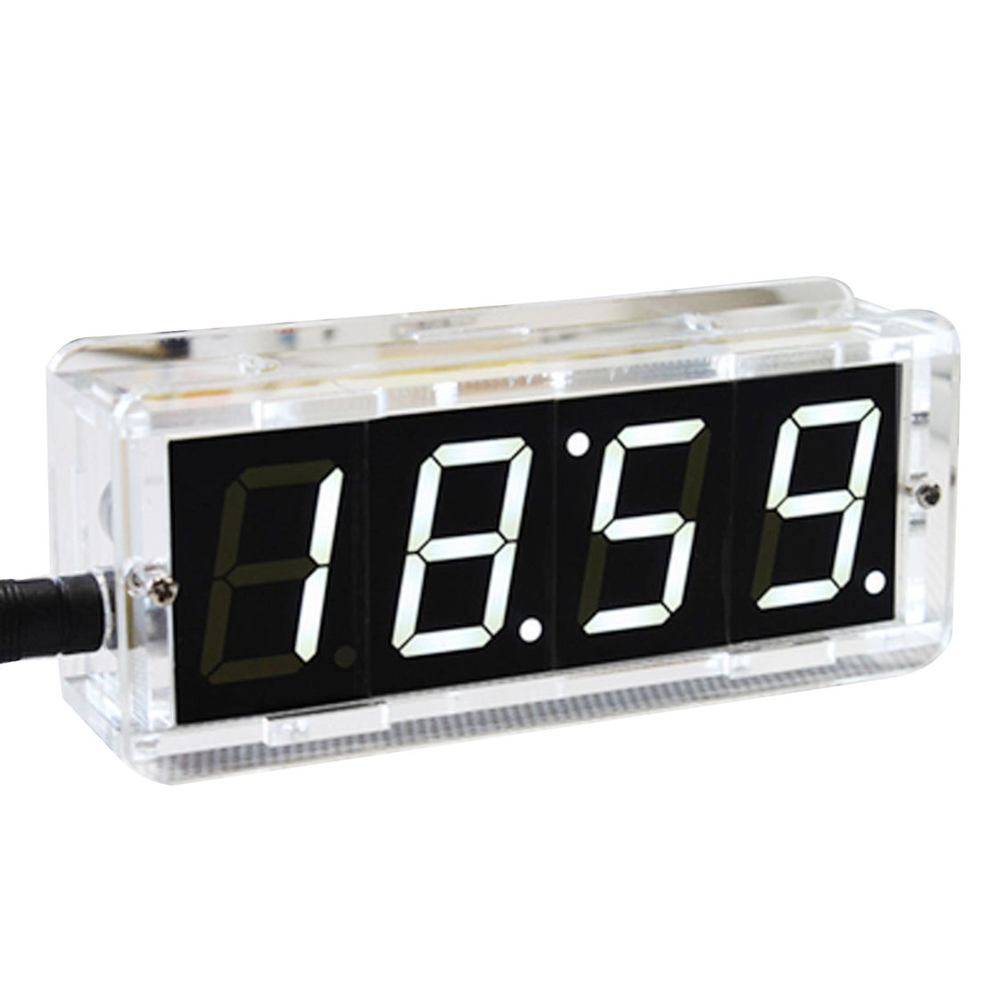 US $7 64 11% OFF|DIY Digital LED Large Screen Display Clock kit with  case-in Alarm Clocks from Home & Garden on Aliexpress com | Alibaba Group