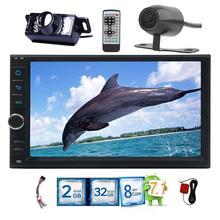 Android 7.1 2 дин no DVD Радио Стерео 7 дюймов сенсорный экран GPS HD видео навигации мультимедийный плеер Wi-Fi резервного камера спереди
