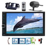 Android 7 1 2 Din Car No DVD Radio Stereo 7 Inch Touch Screen GPS HD