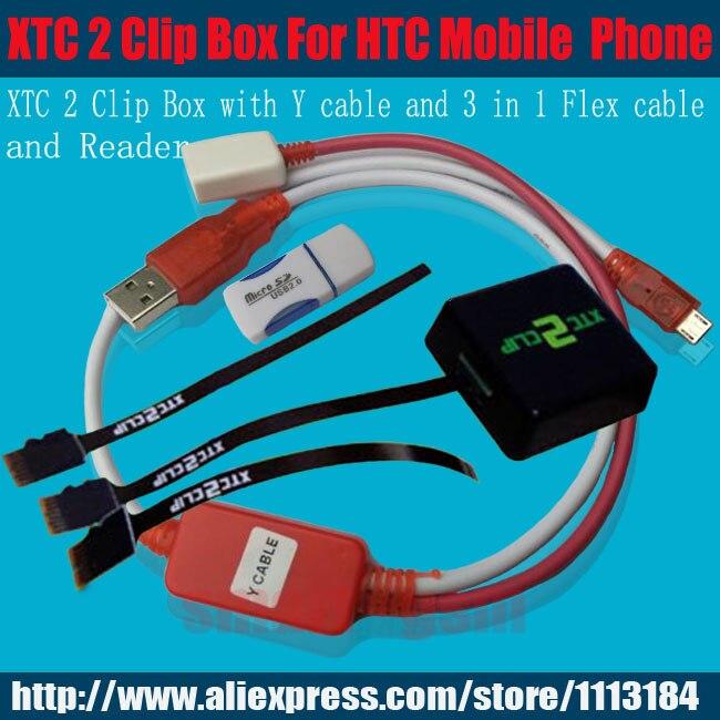 bilder für Neueste ursprüngliche xtc 2 clip xtc clip Box und Y kabel und 3 in 1 flex kabel für htc entsperren werkzeug reparatur & entsperren flash IMEI