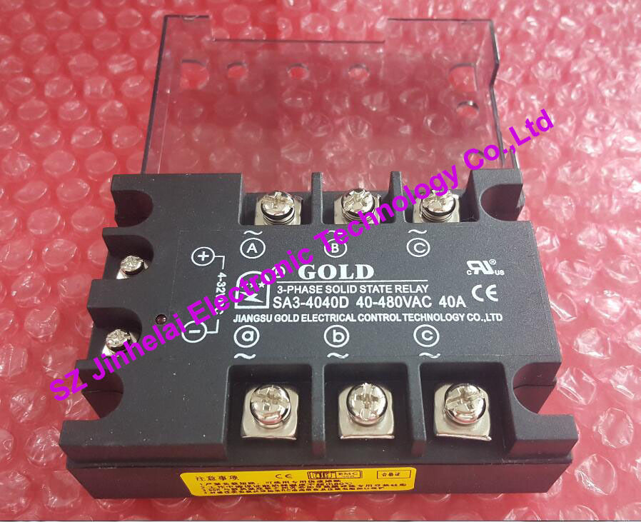 SA34040D (SA3-4040D)  GOLD New and original  SSR  3-phase DC control AC  SOLID STATE RELAY   40A