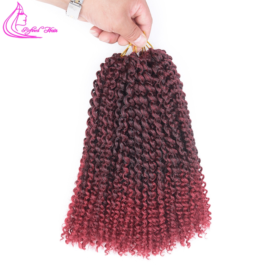 81012 24Strands Marlybob curly Crochet Braids kanekalon Synthetic Kinky Curly Twist Crochet Braiding Hair Extensions