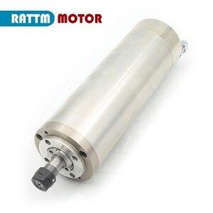 Image 4 - DE Free VAT 800W 0.8kw ER11 wodoodporny silnik wrzeciona 4 łożysko 220V wrzeciono chłodzone wodą CNC wysoki moment obrotowy wysoka precyzja