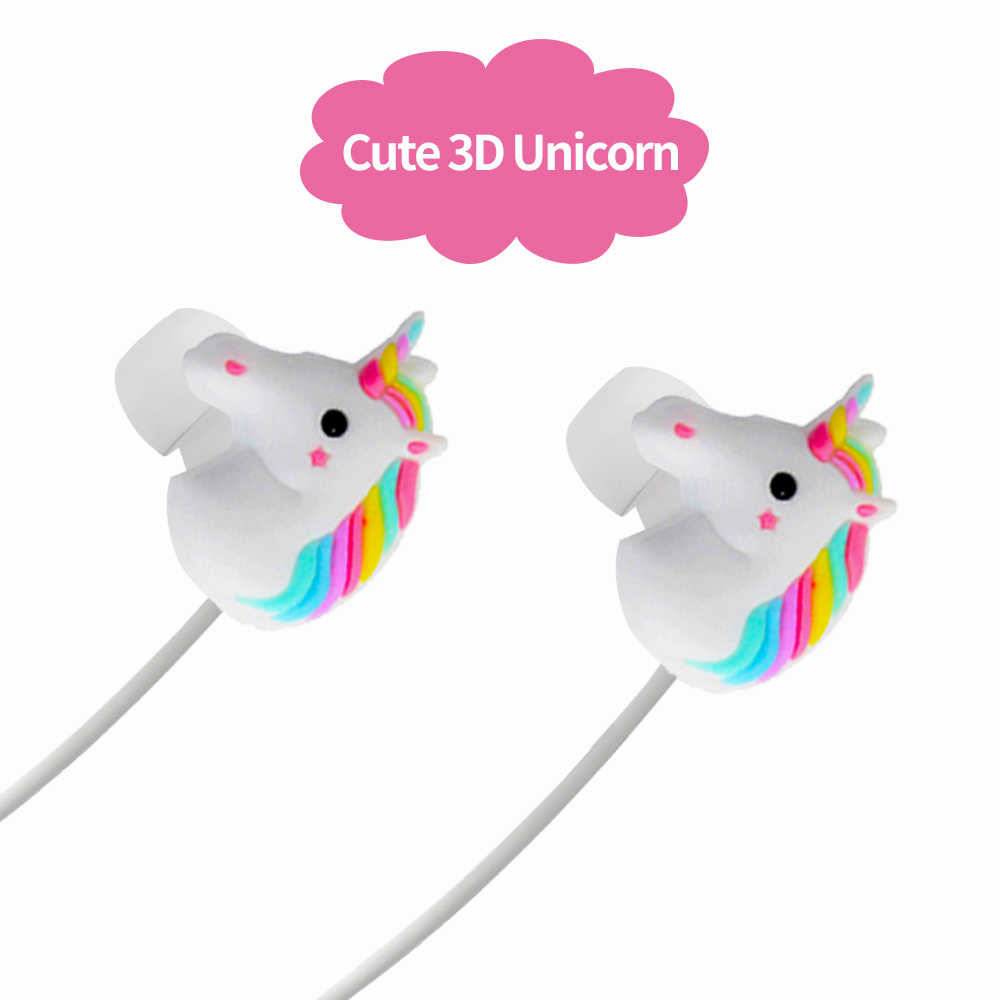2d305d471c0 ... Lovely Unicorns Earphones Rainbow Earbuds Earbuds Headset With 3D  Unicorn Childrens' Nice ...