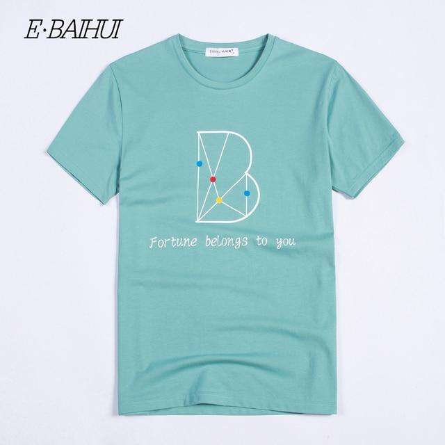 eadd5085d7 E-BAIHUI 2019 verão estilo de moda de nova Algodão Roupas masculinas homem  curto t camisa Masculina Camisetas Casuais Camisetas Ganhos tops tees t039