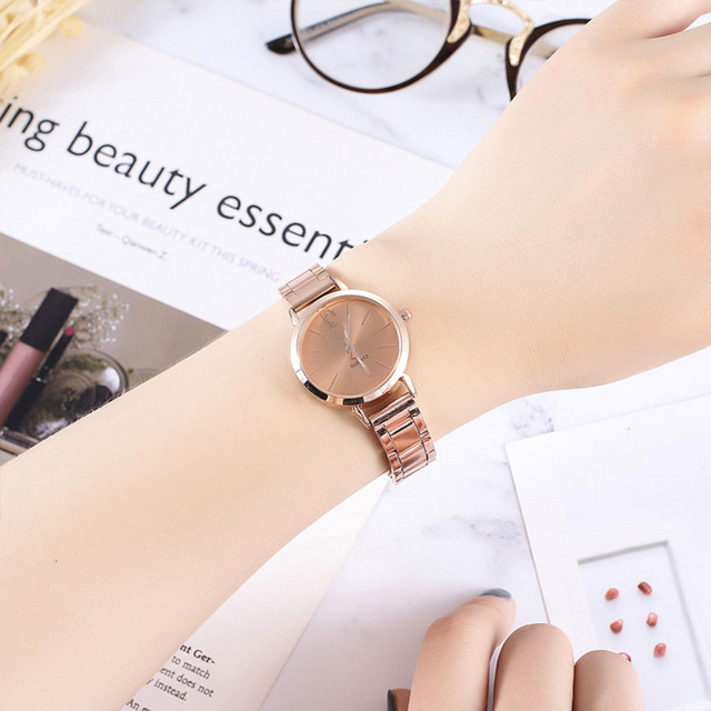 Women Watches Bayan Kol Saati Fashion Rose Gold Silver Luxury Ladies Watch For Women reloj mujer saat relogio zegarek damski 40Q