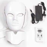 Masque led 7 couleur Led masque Facial Led coréen Photon thérapie visage masque Machine luminothérapie acné masque cou masque led beauté