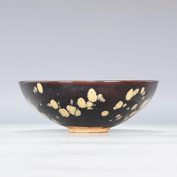 ᐊ2 Antiguo SongDynasty tazón de porcelana, Jizhou horno Tres peces ...