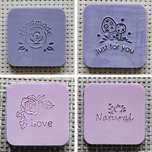 Nicole Soap Seal Stamp for Natural Handmade Acrylic Mold Chapter